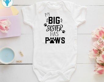 Lucky Star Baby My Big Brother Has Paws Sibling Pregnancy Bodysuit Onesie