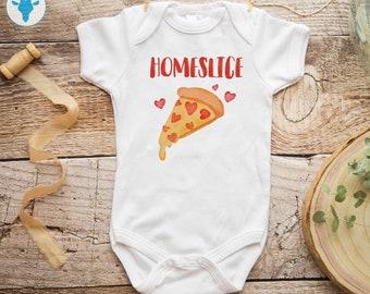 604369230 Home Slice Bodysuit, Pizza Baby Clothes, Cute Coming Home Bodysuit, Funny  Baby Clothes