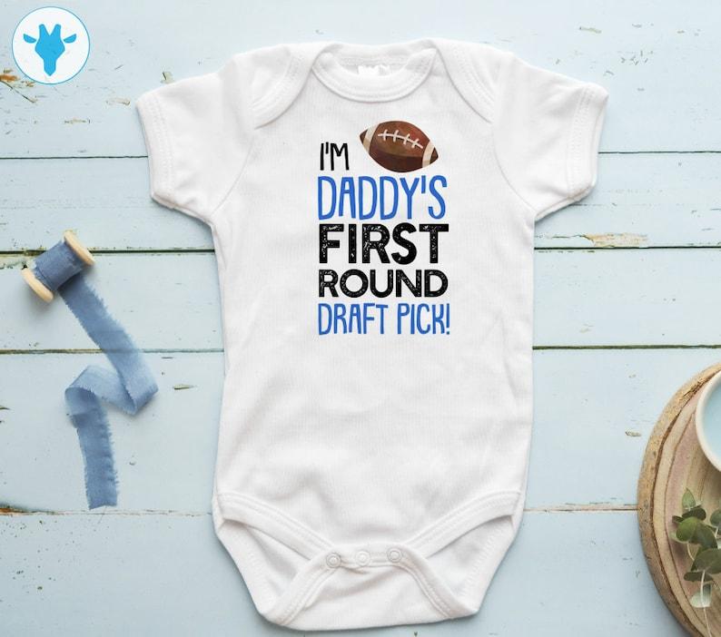 Football Steps Baby One Piece Body Suit Newborn Bodysuit Shirt