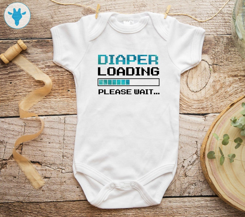 7a0344517 Funny Diaper Loading Bodysuit Baby Boy Clothes Funny Onesie | Etsy
