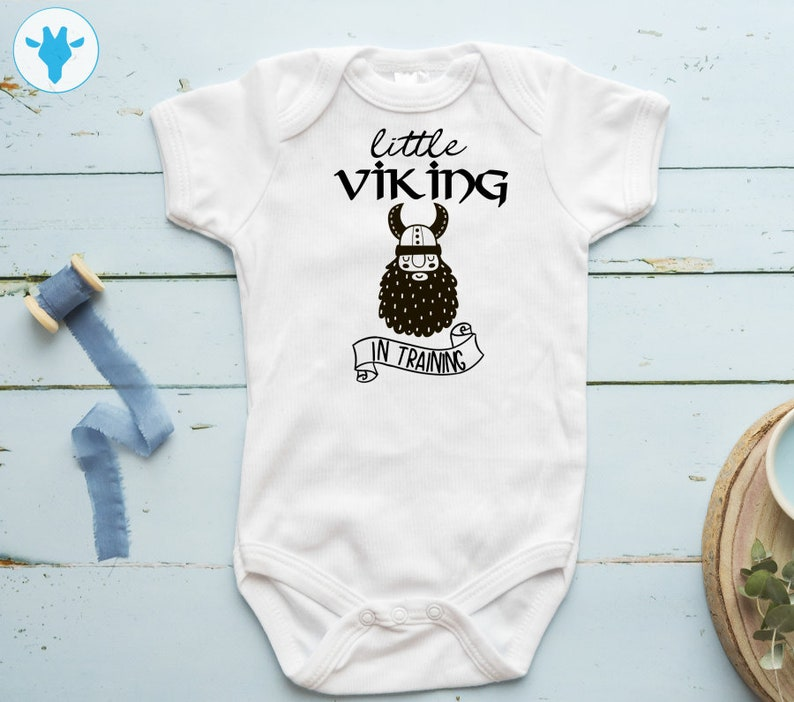 d27b0dcce Little Viking In Training Bodysuit Viking Baby Clothes Baby | Etsy