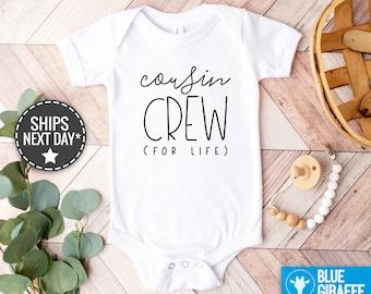 Cousin Crew For Life Baby Onesie®, Cousin Crew For Life Bodysuit, Cute Cousin Gift, Cousin Baby Clothes