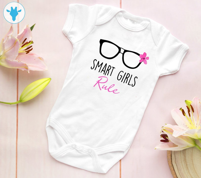 d616a3ba9 Smart Girls Rule Bodysuit Baby Girl Clothes Baby Girl Gift   Etsy