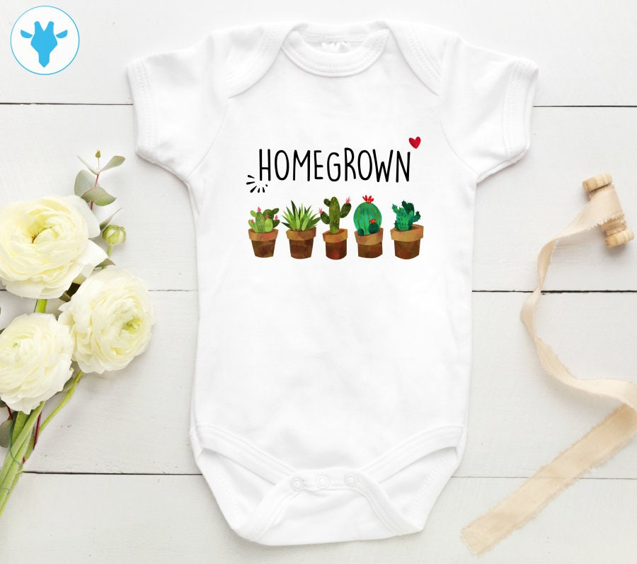 b2e0737ca Home Grown Cactus Bodysuit Succulent Baby Clothes Boho Baby