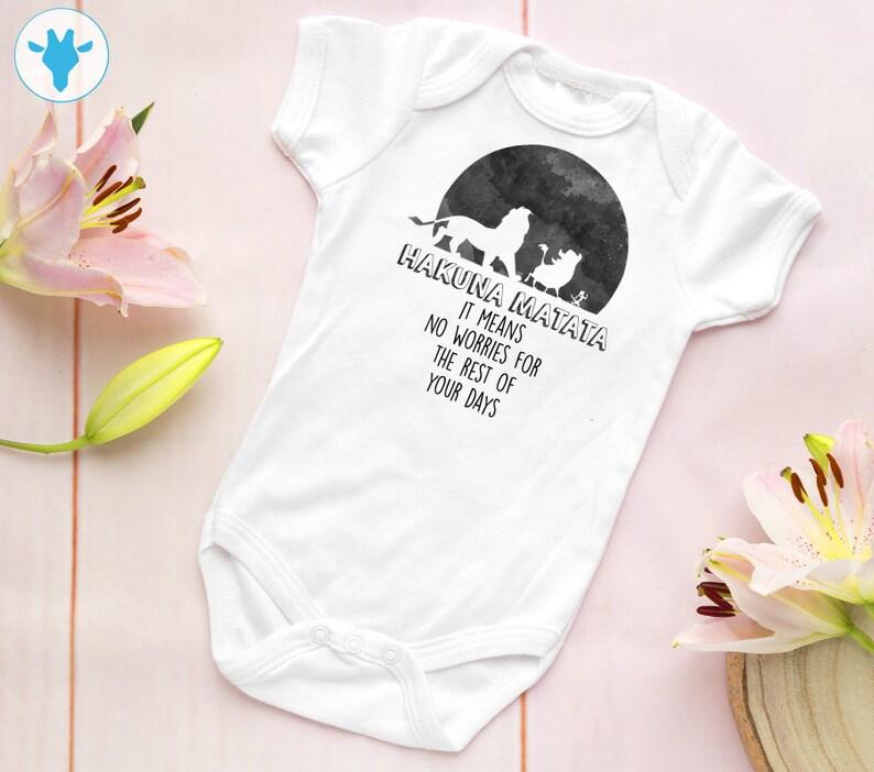 8c55404cd Hakuna Matata Baby Bodysuit Lion King Bodysuit Cute Disney | Etsy
