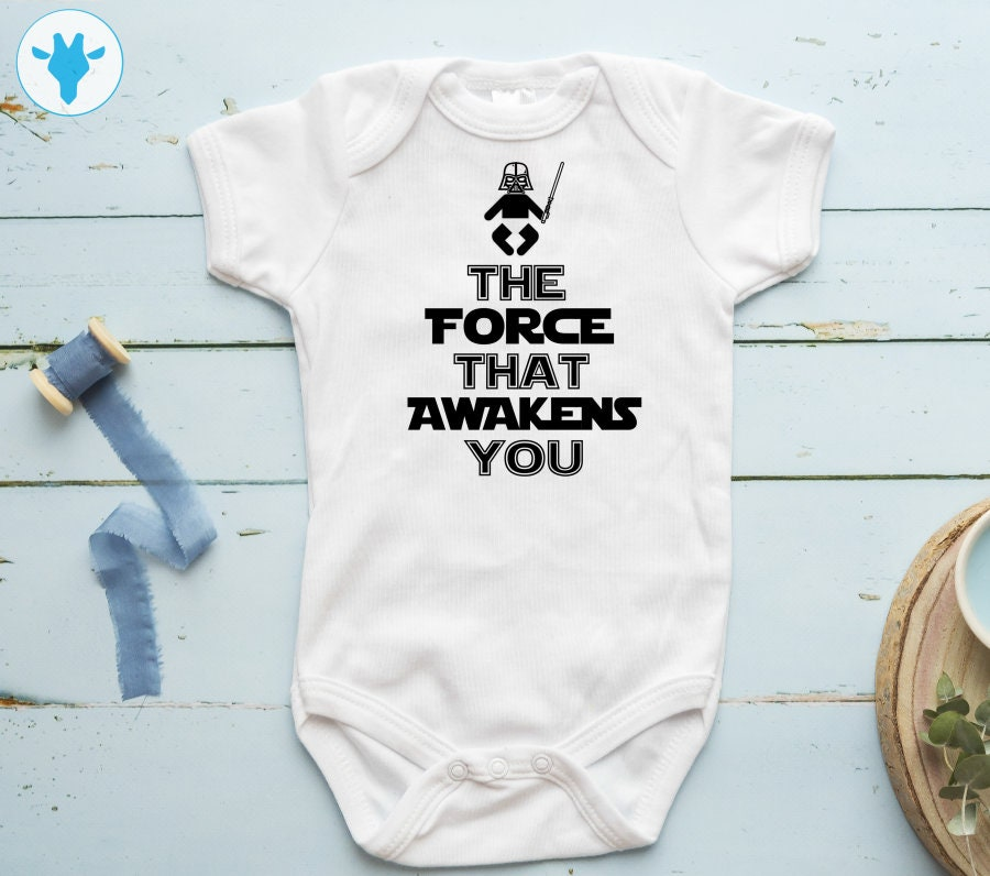 The Force That Awakens You Bodysuit Star Wars Baby Clothes ...