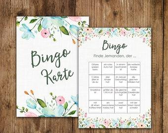 "50 Bingo Cards ""White Wedding"", Wedding bingo game, wedding game"