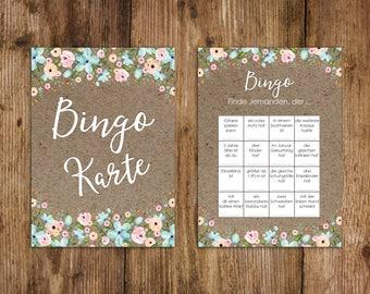 50 Bingo Cards wedding, wedding bingo game, wedding game