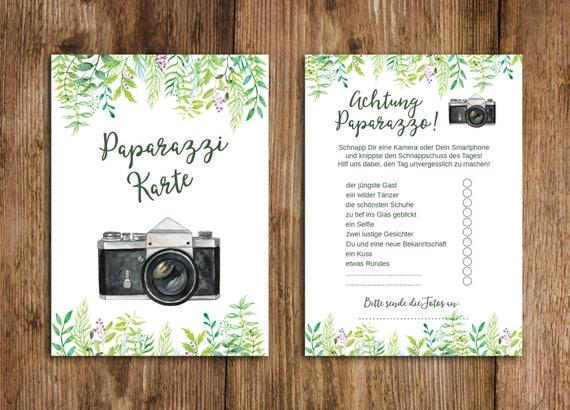 50 Fotokarten Grüne Hochzeit Fotospiel Hochzeit Etsy