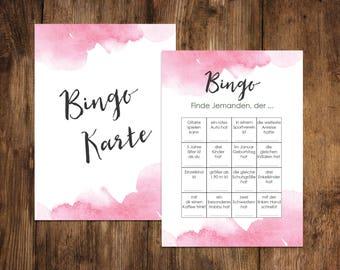 """50 Bingo Cards """"Watercolor Wedding"""", Wedding bingo game, wedding game"""