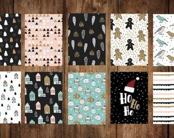 Christmas cards set 10 pieces, postcards