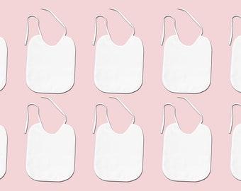 10 bibs white for painting, baby bib, bib wedding, baby party games, baby party gift, baby party game, bib painting