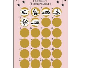 Advent calendar for scratching KAMASUTRA Advent calendar A3 Christmas calendar