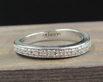 Size 5.75 Sterling Silver Unique Scrolled Band Ring Vintage Statement Engagement Wedding Promise Anniversary Bridal Cocktail Friendship