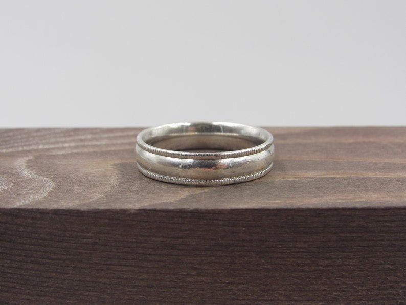 Size 9.75 Sterling Silver Large Stylish Band Ring Vintage Statement Engagement Wedding Promise Anniversary Bridal Cocktail Friendship