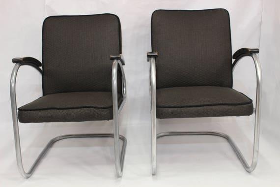 Coppia di sedia a sbalzo modello rs7 mauser werken 1930 s etsy - Sedia cantilever ...