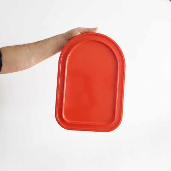 Heller Massimo Vignelli Platter Design Kitchen Orange Etsy