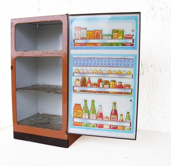 Wolverine Kühlschrank Vintage Spielzeug Blechspielzeug