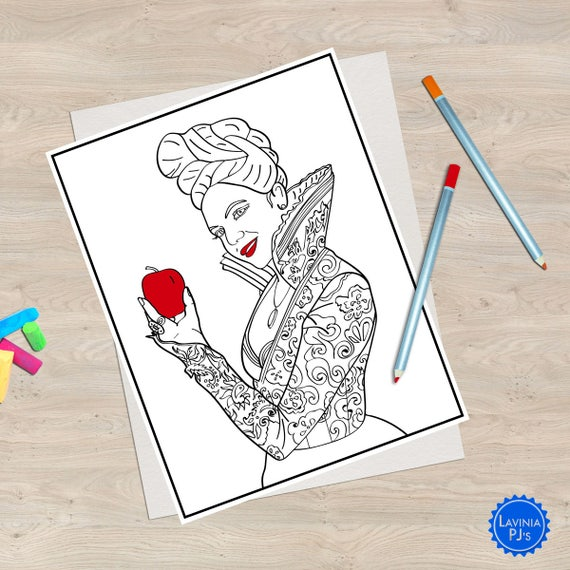2 Once Upon A Time Coloring Book Pages Regina Evil Queen And