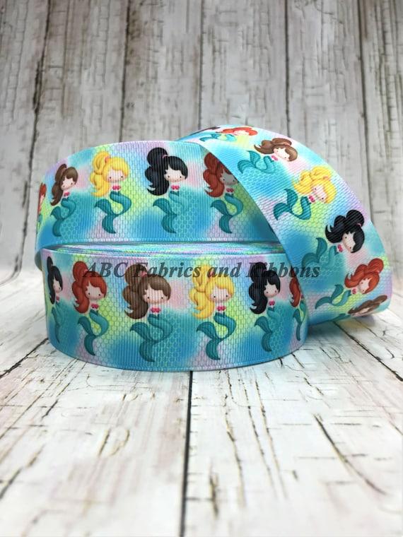 "little mermaid ariel grosgrain ribbon 7//8/"" per 1 m hair scrapbooking card making"