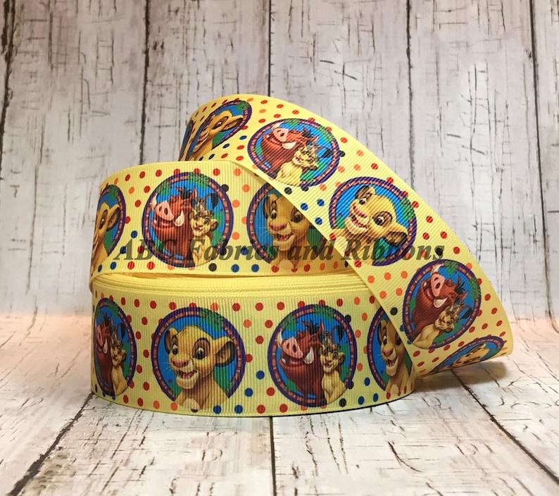 "1/"" 2 YARDS Lion King  Grosgrain Ribbon Hair Bow Scrapbook Crafts Gift Wrap"
