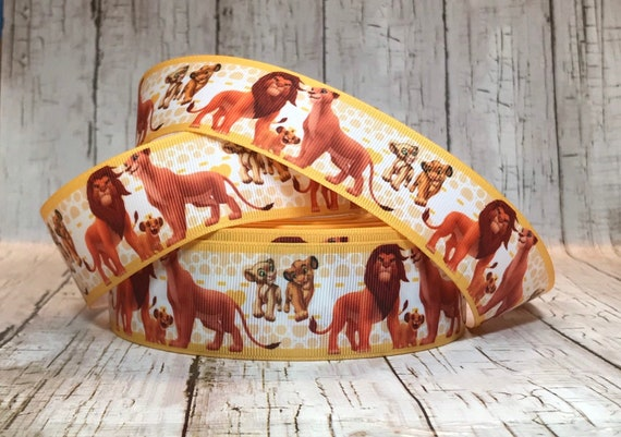 Swell 1 5 Lion King Ribbon Movie Jungle Tv Animal Bear Dots Grosgrain Hair Bow Ribbon Sold By 5 Yards Inzonedesignstudio Interior Chair Design Inzonedesignstudiocom