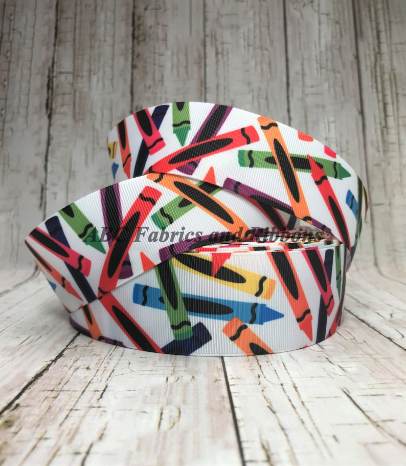 "5 YARDS 3//8/"" BACK TO SCHOOL BOOK WORM BOOKWORM GROSGRAIN RIBBON"