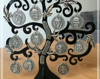 Personalised Family Tree with Keepsake Photograph Coins