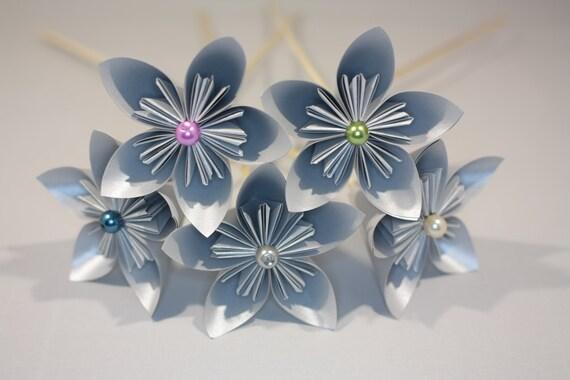 Origami Paper Flowers Bouquet Roses Kusudama Spring Wedding Bridal ... | 380x570