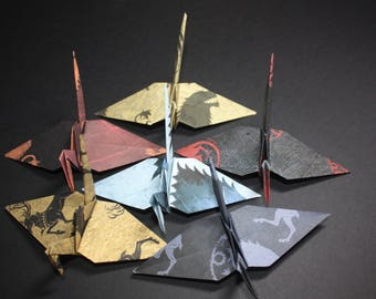 20 Origami Paper Cranes, Westeros Map, Game of Thrones House Theme, GOT
