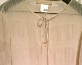 Fenn Wright Mason sheer l/s bow blouse