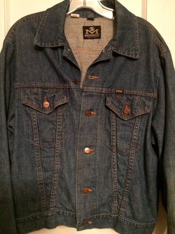 VINTAGE BLUEJEAN JACKET ,Made By Maverick