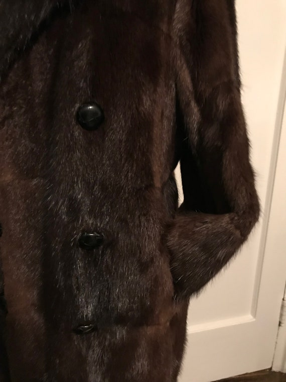 Double Breasted Fur Trench