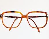 ALLISON vintage eyewear rare eyeglasses gold rim brown squared mask Sunglasses 927 made in Italy Migos frame retro classic oversize big hype