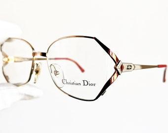 DIOR lunettes de soleil vintage rare lunettes or rouge ovale lunettes de  soleil strass carré strass CHRISTIAN 2686 90 s sous-verre nouveaux numéros 83652e329a22