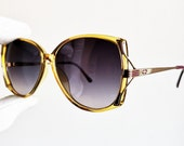 DIOR vintage sunglasses rare Christian 2529 mask gold oval squared purple yellow frame new lens 80s 90s Rihanna Lady Gaga Kylie Jenner mod