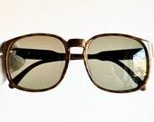 DIOR Monsieur vintage sunglasses rare square tortoise new brown lens 2312 Christian lunette gold details oversize big mask 80s drop sun hype