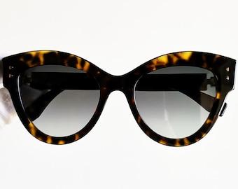 e5eed07385015 FENDI SUNGLASSES oversize big cat eye PEEKABOO 2018 French winged style  gold tortoise diva butterfly rockabilly FF0266 S bag new Nos