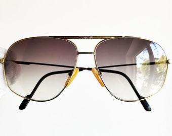 98287a5ddf941 FERRARI vintage sunglasses rare gold square aviator Formula de CARTIER mask  shield frame scuderia new gray lenses 90s