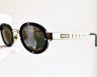 c779a7c53edc MOSCHINO by PERSOL vintage sunglasses rare oval made in Italy love  Valentine frame heart supreme steampunk gothic