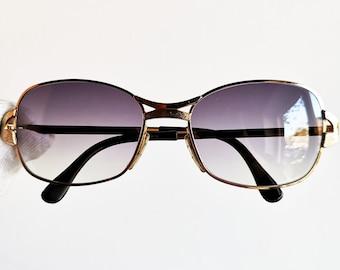 78fcea357b01 GOLD filled plated sunglasses vintage rare oval rectangular MARWITZ new  PURPLE lenses 6008 Run Dmc frame iconic strange hype 70s