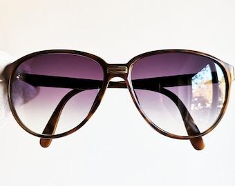 16895dd5311 DIOR Monsieur vintage sunglasses rare drop sun shaped aviator tortoise  brown new purple lens 2352 frame Christian lunette oval gold rim