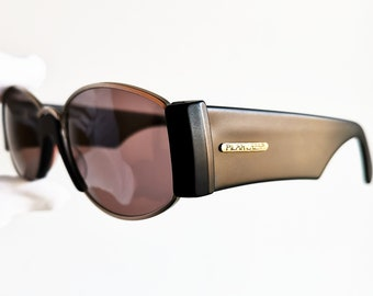 1846ebb0b491 PILAR CRESPI oval Sunglasses vintage rare frances moda made in Italy round  supreme gosha fancy thick super Rubchinskiy hype new NOS 90s drop