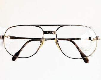 82dfd6cc05e DESIL 14KT rolled GOLD eyewear eyeglasses vintage sunglasses rare plated  aviator santos square frames wrap supreme clear lens hype new NOS