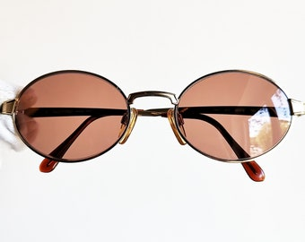 60afb29475cd VALENTINO vintage Sunglasses rare round oval gold V461 steampunk pantos  frame Tupac Rihanna Migos 90s new purple antireflection lens - VLTN