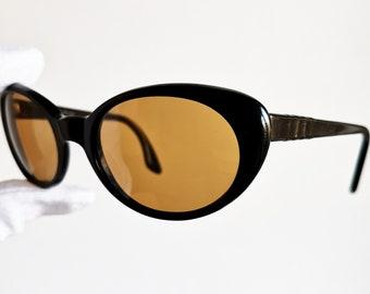 PERSOL RATTI vintage occhiali da sole raro ovale retrò in Italia gatto  occhio marrone telaio da collezione diva suprema iconica acetato ada32e019864