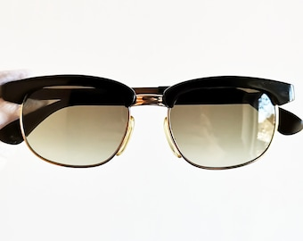 a353a9fe85 MARWITZ vintage sunglasses rare rectangular GOLD filled plated square oval  english browline Optima preppy frame supreme Malcom X new lenses