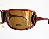 VIVIENNE WESTWOOD vintage sunglasses rare oversize wrap mask red lips kiss vw58404 Lady Gaga frame wraparound shield polarized new NOS 90s