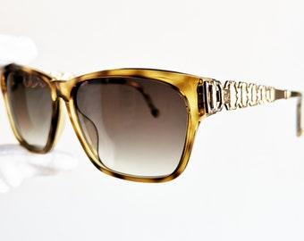 7a8ebfba54f Rare SUNGLASSES vintage Square CHRISTIAN LACROIX aviator gold 7376  geometric video wrap lunette tortoise shield iconic frames like New