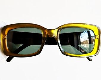 d5f8dab78fbc GUCCI vintage sunglasses rare square shiny gold green frame GG2407 N S oval  supreme moda wrap palladium Kurt Cobain oversize new NOS